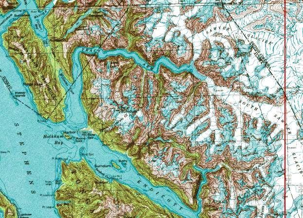 tracy arm fjord alaska map Tracy Arm Fjord Gypsyroadgallery